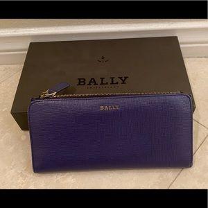 Bally dark amethyst wallet